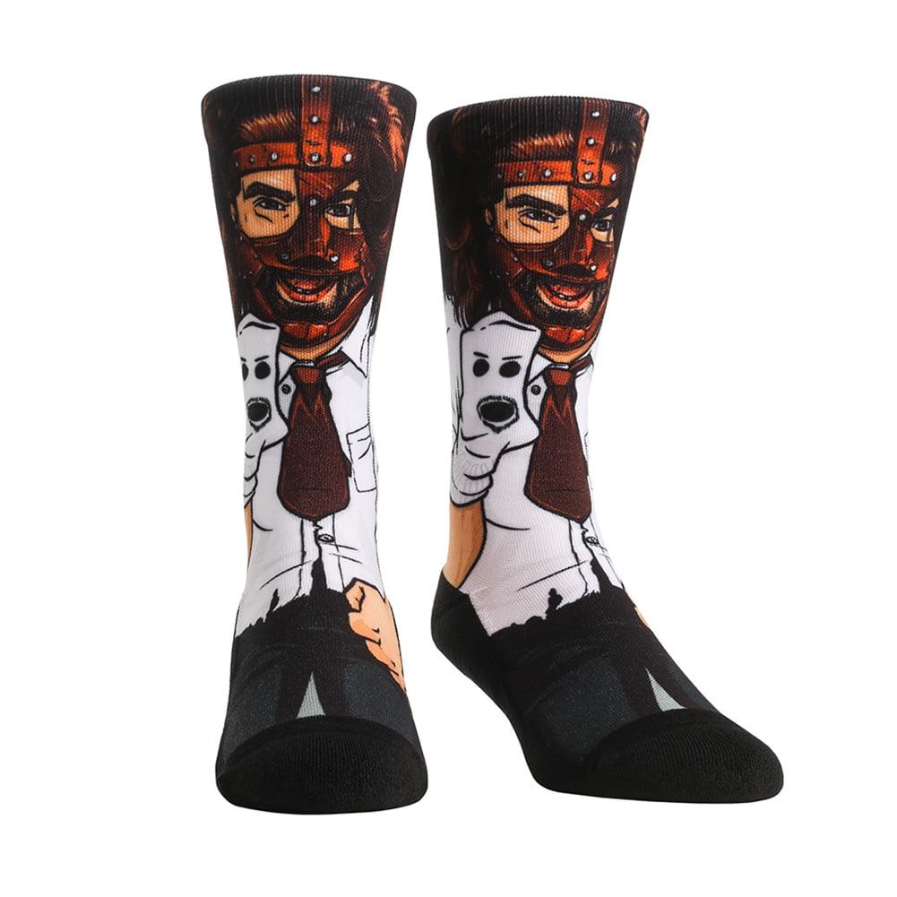 Official WWE Authentic Mankind Rock 'Em Socks Multi 10-13