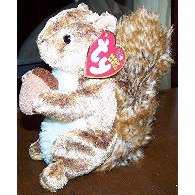 ty beanie baby - nutty the squirrel [toy]