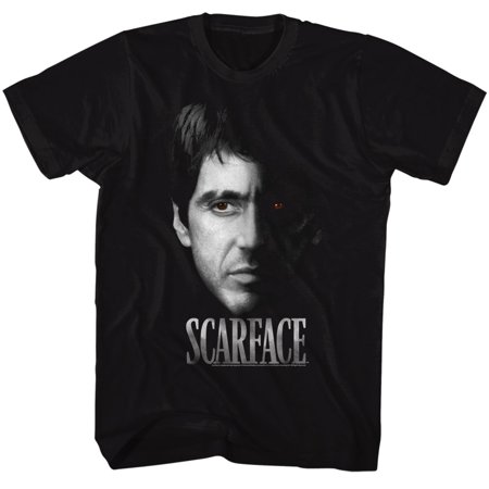 Scarface 1980's Gangster Crime Movie Al Pacino Tony Montana Face Adult T-shirt - 1920 Gangster Clothing