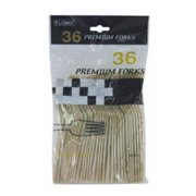 Gold Disposable Plastic Premium Forks for Party,Pack of 36 EA