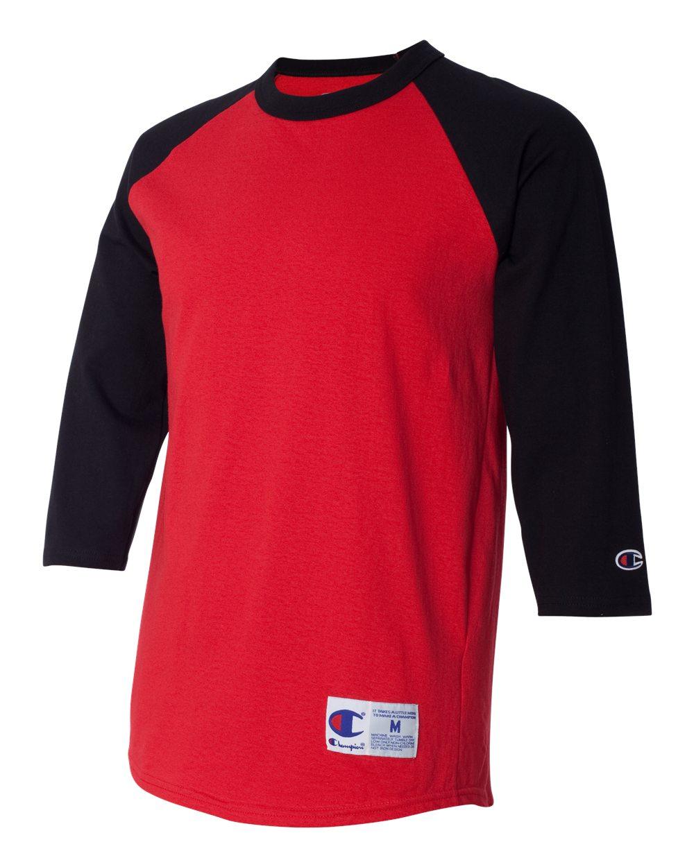 Champion - T1397 Baseball Jersey Short Sleeve Tagless Raglan T-Shirt -  Walmart.com 3910c0973