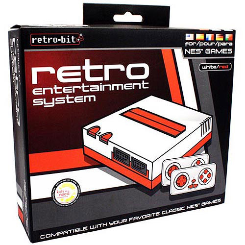 RETRO-BIT Top Loader 8-Bit NES System, White and Red (NES)