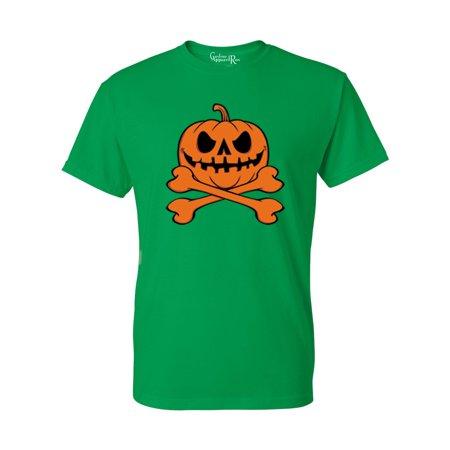 Pumpkin Cross Bones Halloween Costume Mens Womens