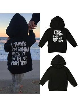 Toddler Kids Baby Boy Girl Clothes Letter Hoodies Sweatshirt Coat Tops Jacket