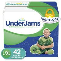 Pampers UnderJams Boys Bedtime Underwear, Size L/XL (Choose Count)