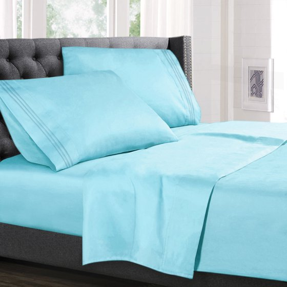 Deep Pocket 4 Piece Bed Sheet Set Available In King Queen Full Twin And California Soft Microfiber Hypoallergenic Cool Breathable