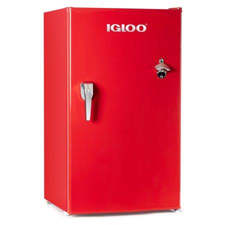Igloo 3.2 Cu Ft Retro Mini Fridge with Freezer IRF32RSRD,