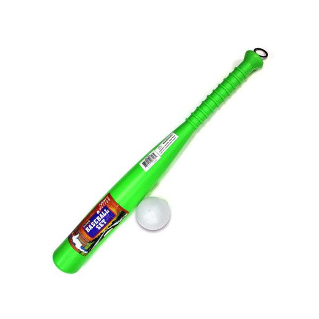 Kole Imports KK153-12 22.5 x 2.5 in. Plastic Baseball Bat & Ball Set Pack of 12 by Kole Imports