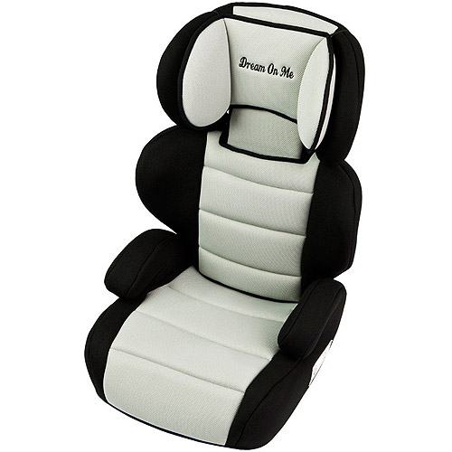 Dream On Me Deluxe Booster Car Seat in Black and Ivory