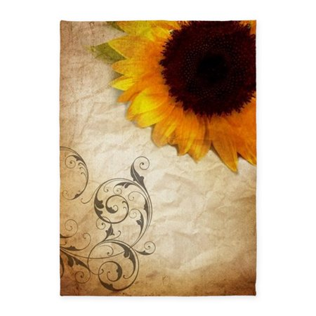CafePress - Sunflower Barnwood Western Country - 5'x7'Area Rug (Country Western Decor Ideas)