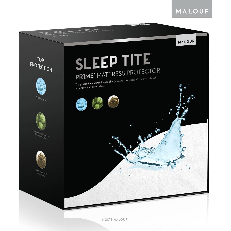 Sleep Tite PR1ME Waterproof Fitted Mattress Protector, Vinyl Free