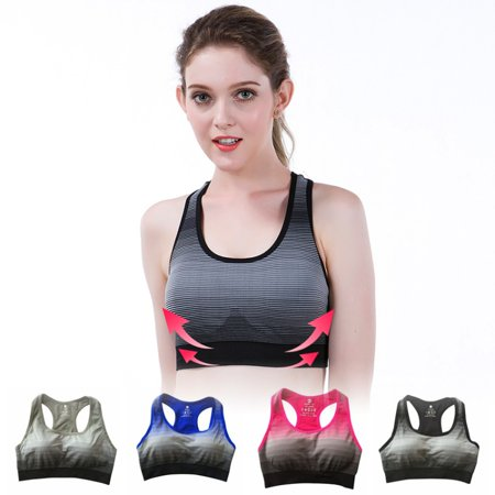 352d71295aba4 Women Seamless Stretch Workout Tank Top Racerback Yoga Fitness Padded  Sports Bra - Walmart.com