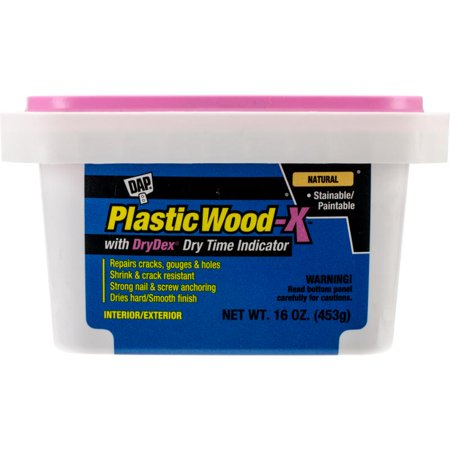 Plastic Wood Latex Filler X W/dry Time Indicator 16oz-