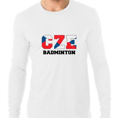 Czech Republic Badminton - Olympic Games - Rio - Flag Men's Long Sleeve - Badminton Funny Long Sleeve