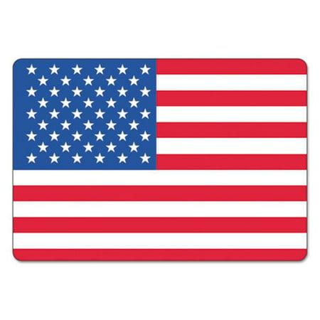 Lmt Usa25v Warehouse Self Adhesive Label  44  4 X 2 5 In   44  Usa Flag