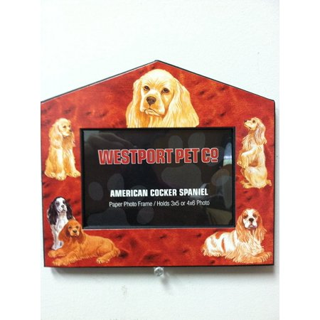 - Cocker Spaniel Dog House Frame 4x6 or 3x5 Pictures, Limited Edition By Westport