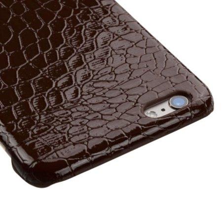 Insten Crocodile Hard Skin Case For Apple iPhone 6 Plus/6s Plus - Brown - image 2 of 3