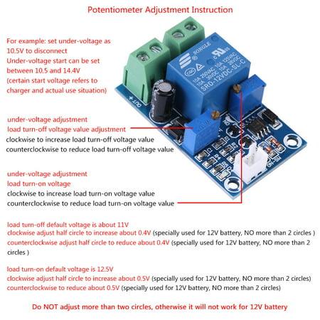Garosa Batterie de 12V basse tension coupée du module de protection de récupération de commutation automatique, commutateur de coupure de basse tension, contrôle de sous-tension - image 2 de 8