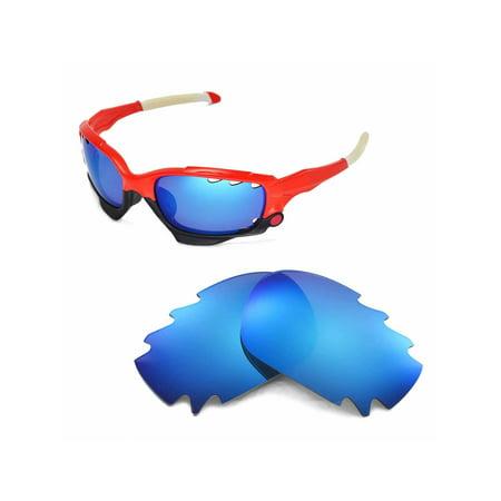 15cec7062e Walleva - Walleva Ice Blue Vented Replacement Lenses for Oakley ...