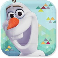 """7"""" Olaf Square Paper Party Plate, 8ct"""