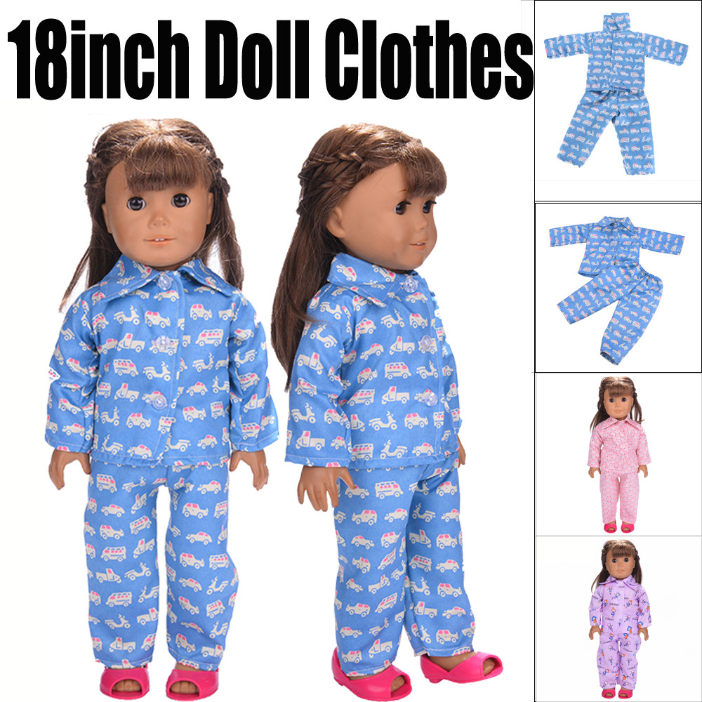 Cute Pajamas Clothes For 18 inch Our Generation American Girl Doll