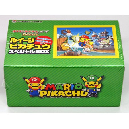 Japanese Pokemon Trading Card Game Luigi Pikachu Cosplay Box