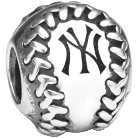 Sport Charm Baseball - New York Yankees Pandora Baseball Charm - No Size