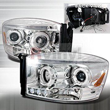Spec-D Tuning Dodge Ram 2006 2007 2008 LED Halo Projector Headlights -