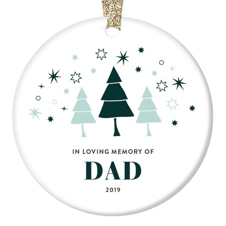 Loss of Father Ornament Christmas 2019 In Loving Memory Dad Parent Memorial Sympathy Gift Ideas Family Loved One Holiday Condolence Funeral Remembrance Keepsake Soft 3