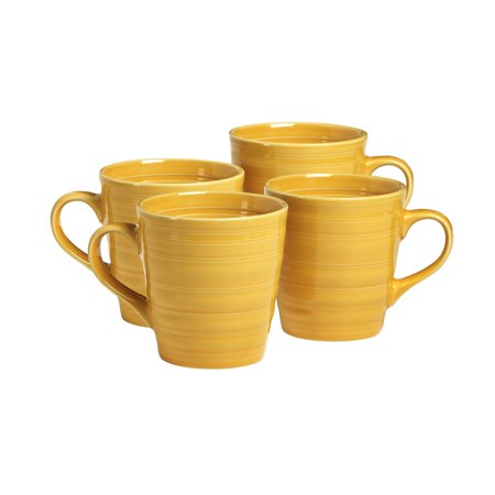 overandback Farmhouse Style Mugs, set of 4, (Suomi White Mug)