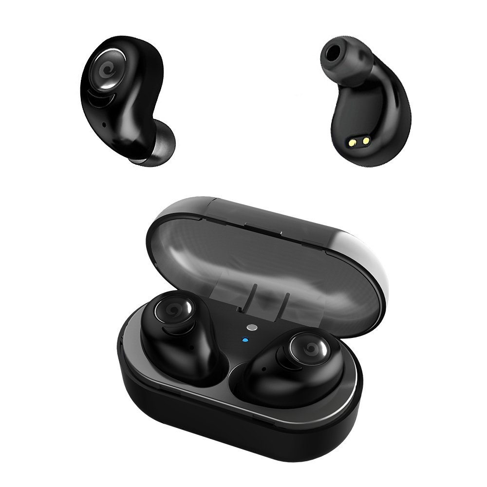 Wireless Headphones Earbuds Stereo Bluetooth Headphones with Microphone,Mini In-Ear Noise-Canceling Wireless Earbuds for Running Sports Gym Workout by StillCool