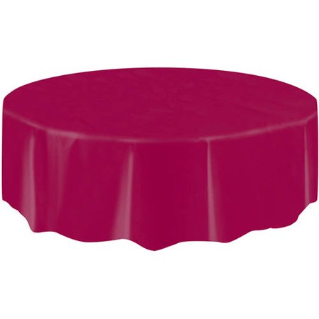 "Plastic Table Cover, 84"" Round"
