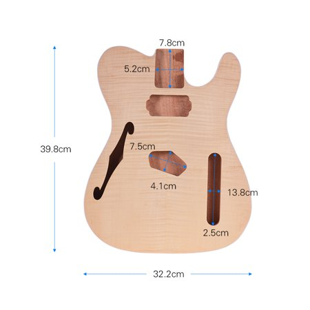 Muslady TL-FT03 Unfinished Guitar Body Mahogany Wood Blank Guitar Barrel for TELE Style Electric Guitars DIY Parts - image 6 of 6