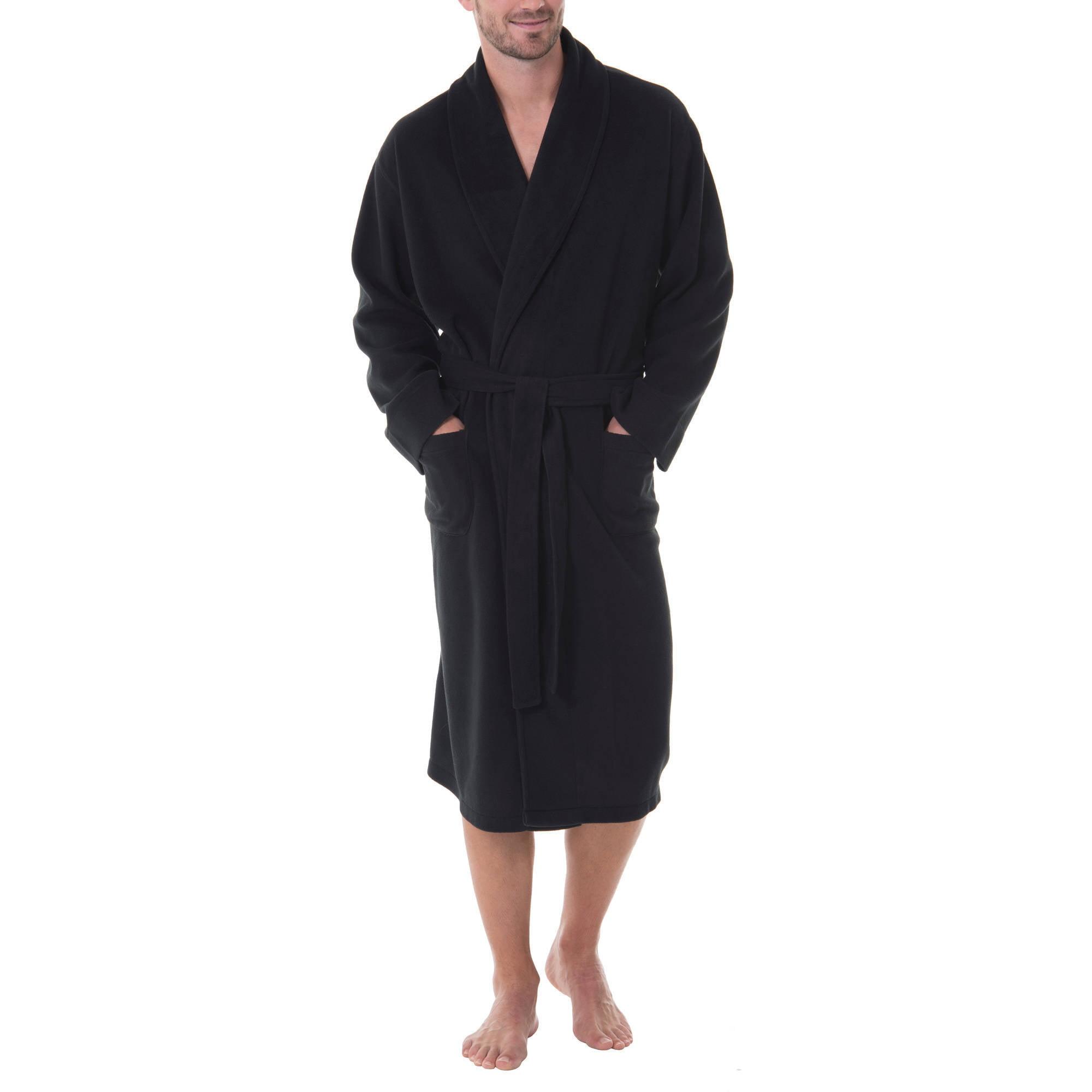 Men's Solid Fleece Robe