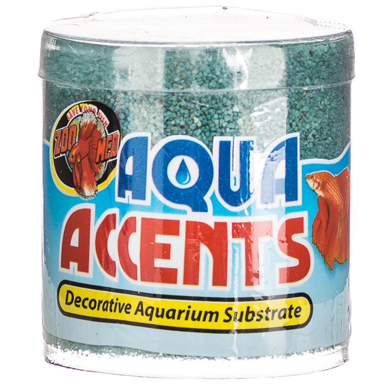 Zoo Med Aqua Accents Terminator Teal Sand 8 oz by ZOO MED LABS INC