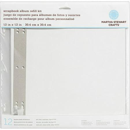 Martha Stewart Crafts Album Refills 12 X 12 Page Protectors 12pk