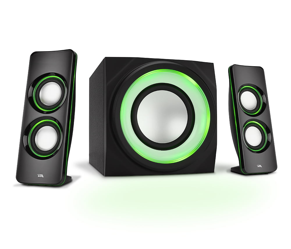 Cyber Acoustics LED Lighted 2.1 Bluetooth Computer Speakers (CA-3814BT)