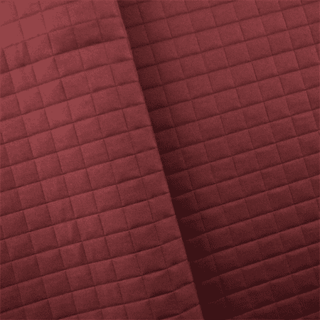 Berry Red Quilted Grid Home Decorating Fabric, Fabric By the (Quilted Fabric Panel)