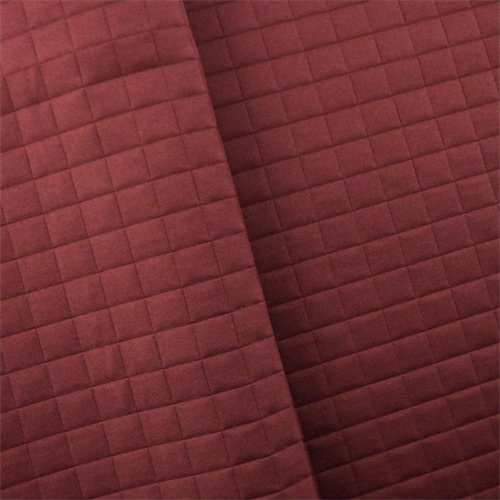 Berry Red Quilted Grid Home Decorating Fabric, Fabric By the Yard