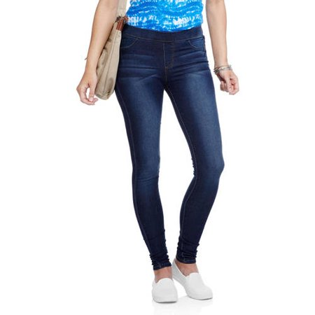 f261cb43609a2 No Boundaries - Juniors  Essential Pull-On Jeggings (Denim and Color  Washes) - Walmart.com