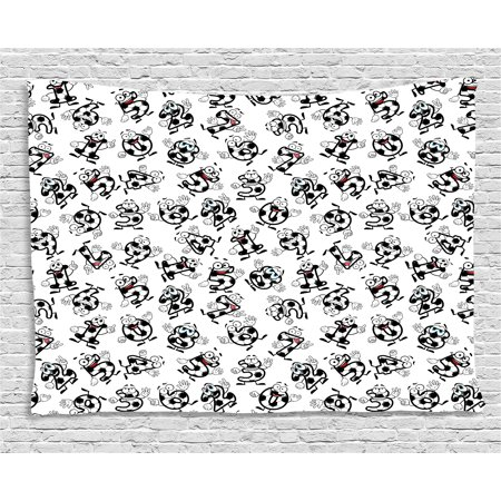 Soccer Tapestry, Cartoon Funny Football Numbers Pattern of Smiling Digits Sports and Education Theme, Wall Hanging for Bedroom Living Room Dorm Decor, 80W X 60L Inches, Multicolor, by Ambesonne](Football Themed Events)