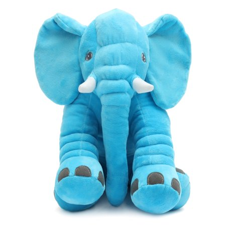 Stuffed Animal Cushion Kids Baby Sleeping Soft Pillow Toy Cute Long Nose Elephant Shape Cotton Doll Stuffed & Plush Soft