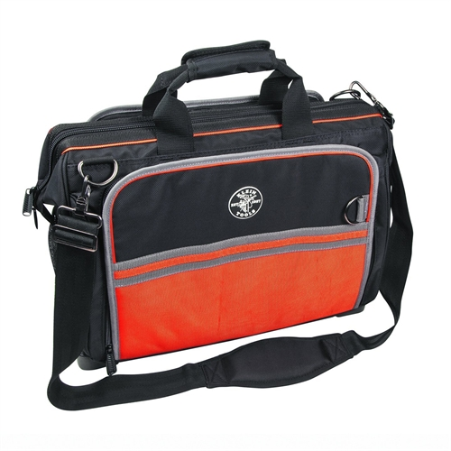 """KLEIN TOOLS Wide-Mouth Tool Bag,55 Pockets,19"""" W 554181914 by Klein Tools"""