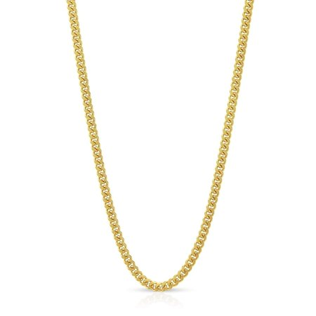10k Yellow Gold 1.5mm Solid Miami Cuban Curb Link Thick Necklace Chain 16