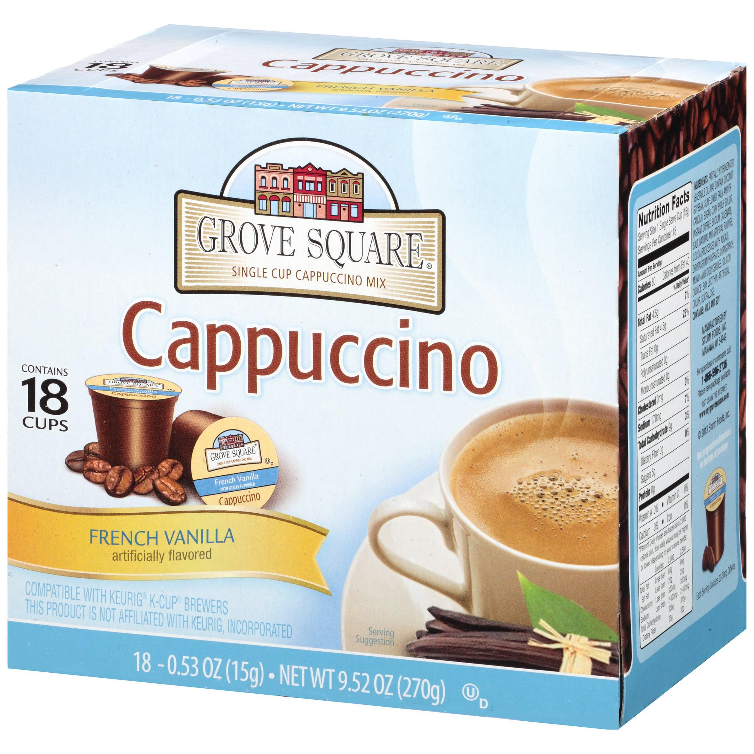 grove square french vanilla cappuccino mix 952 oz 18 ct kcup box walmartcom