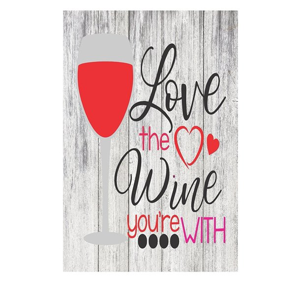 Download Love The Wine You're With Funny Quote Metal Kitchen Sign ...