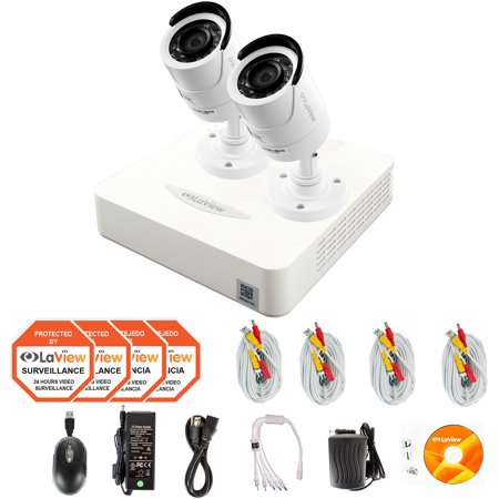 LaView 2 Cameras 4CH Security System 960H DVR with 500GB storage HDMI and 1000TVL HD Security Cameras Surveillance Kit