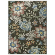 Mainstays Gray Floral Area Rug