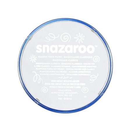 Snazaroo Classic Face Paint, 18ml, White - Good Halloween Face Paint