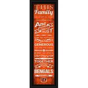 "Cincinnati Bengals Family Cheer Print 8""x24"""
